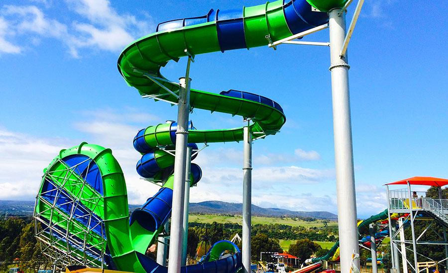 Victoria's Biggest Water Slide at Funfields